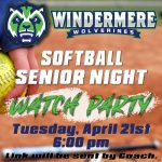 Softball Senior Night Watch Party