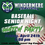 Baseball Senior Night Watch Party