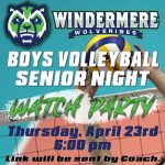 Boys Volleyball Senior Night Watch Party