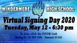 Virtual Spring Signing Today at 6:30 PM