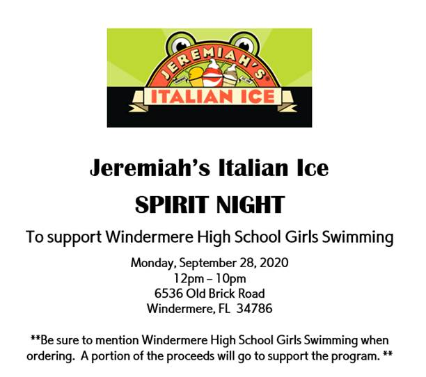 Girls Swimming and Diving Spirit Night