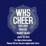 Updated Cheer Tryouts Dates June 1st-3rd