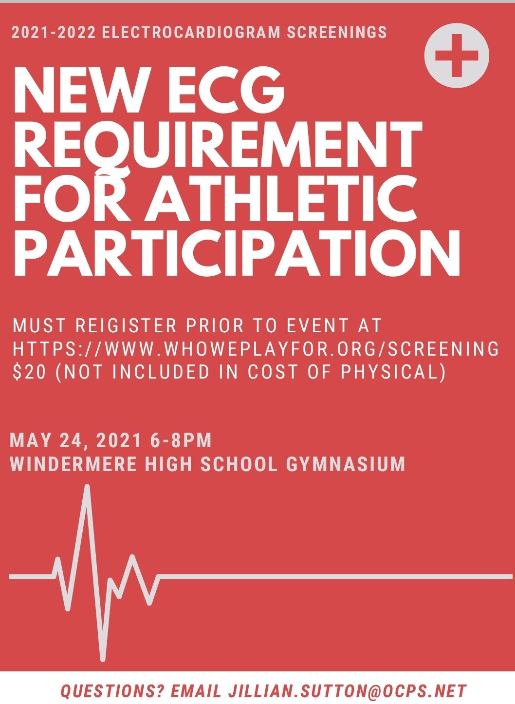 Athletic Physicals & ECG's May 24th