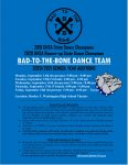 BTW – Bad To The Bone Dance Tryouts September 14 – 18th