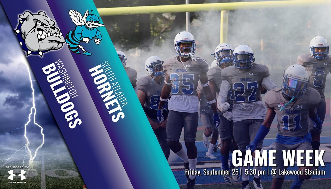 BTW Bulldogs vs South Atlanta Hornets  Friday, September 25th @ 5:30pm