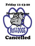 BTW BULLDOGS Football Game Cancelled – Friday, November 13th – Cancelled
