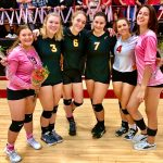 Riverhawk Varsity Volleyball Team honored the Seniors last night at Kurtz Gym