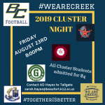 Cluster Night at BCHS!