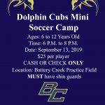 Mini Soccer Camp This Friday!