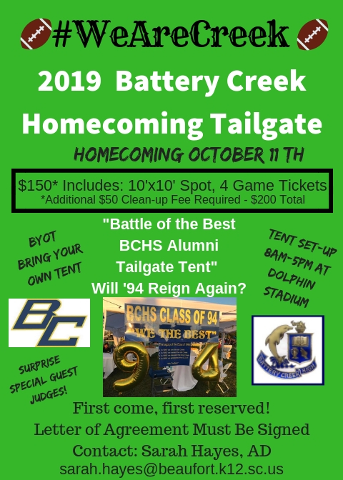 Less than 4 weeks until the 2019 BCHS Homecoming!