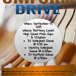 Uniform Drive This Thursday!