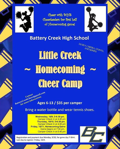 Join Us for Homecoming Cheer Camp!