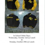 BCHS Letterman Jacket Sales on Wednesday