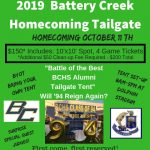 2019 Homecoming Tailgate-Deadline on Wednesday to Reserve a Spot!