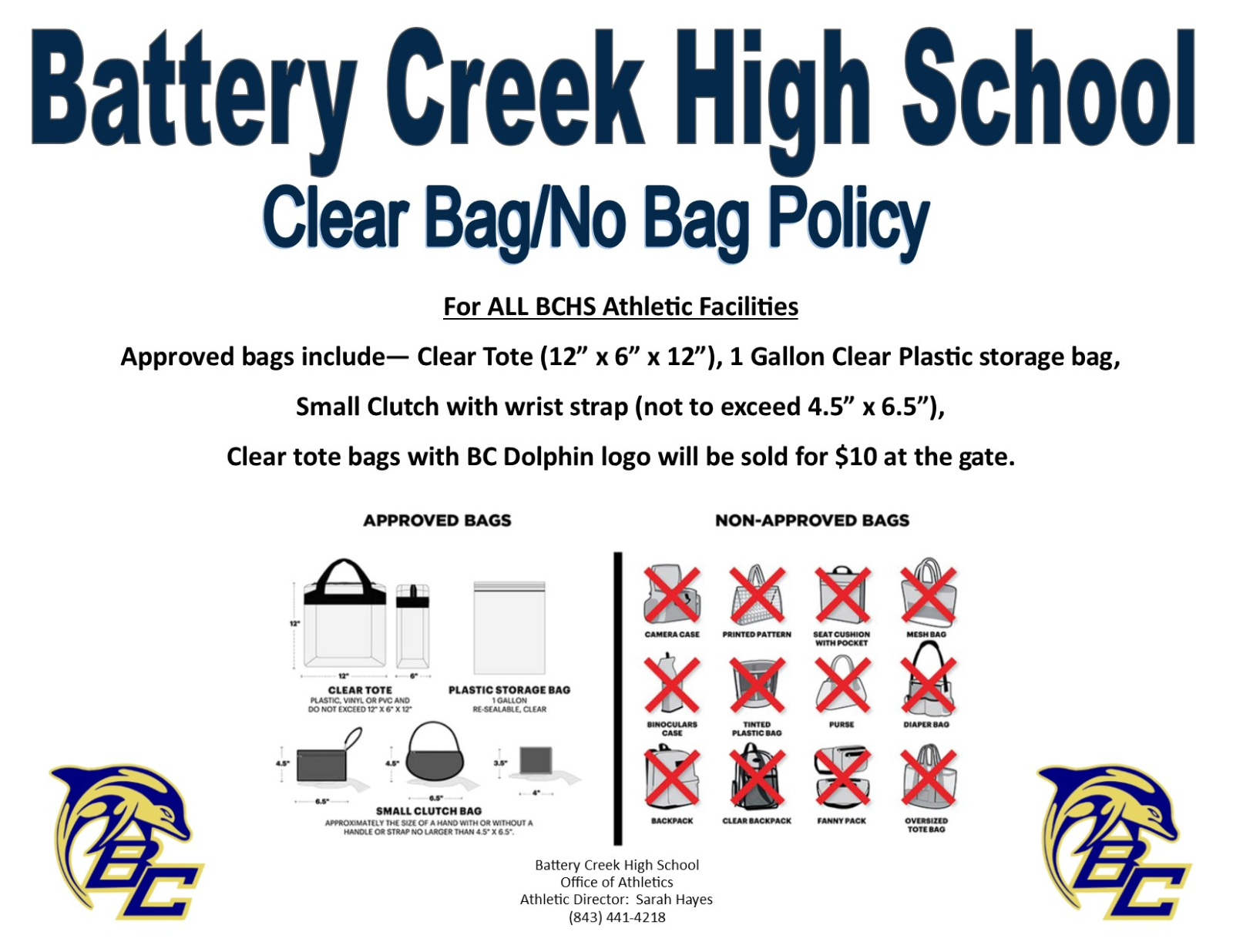 Clear Bag/No Bag Policy