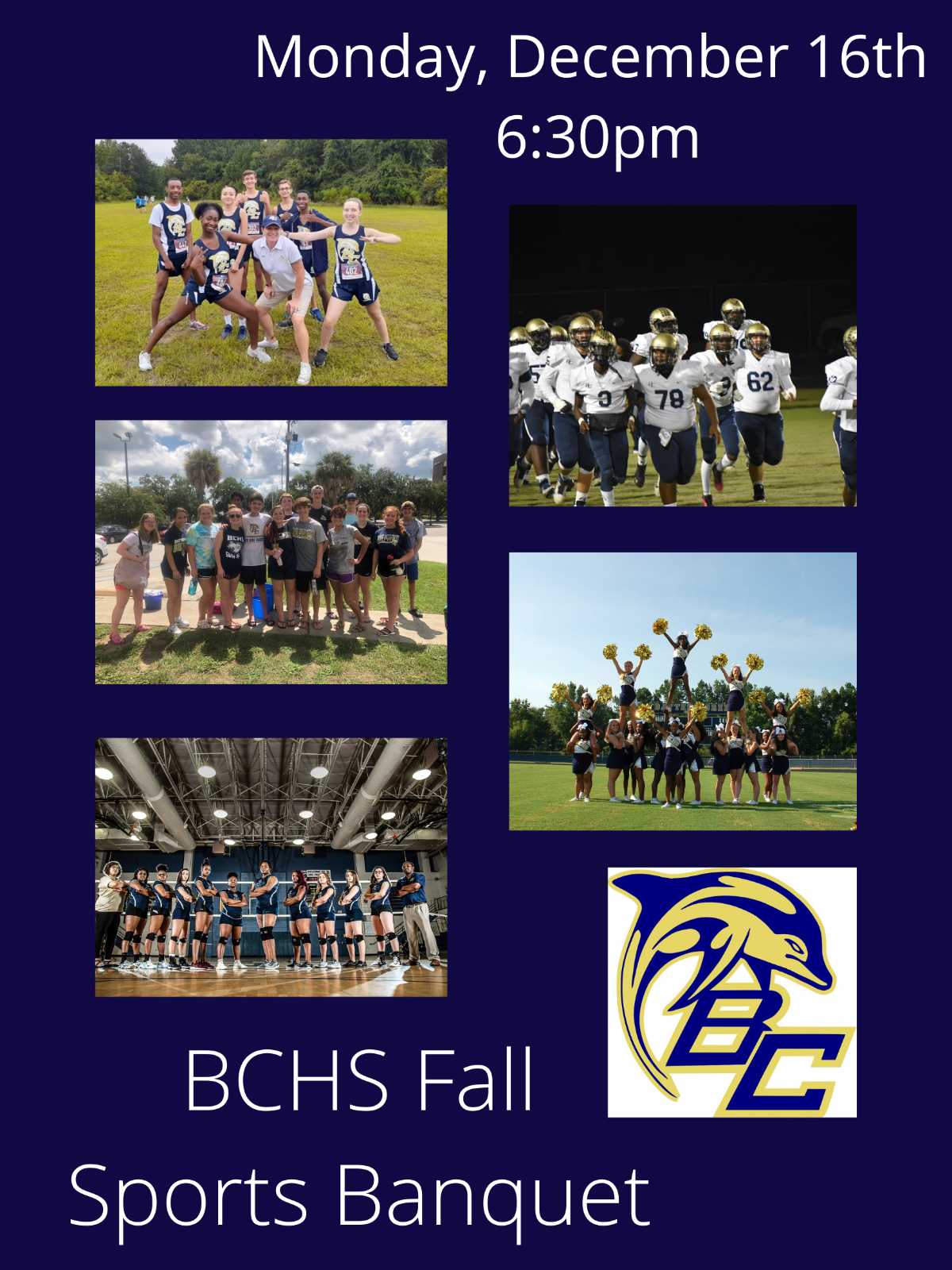 BCHS Fall Sports Banquet Monday, December 16th @ 6:30pm