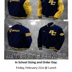 BCHS Letterman Jacket Orders