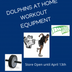 Dolphins at Home Workout Equipment Available!