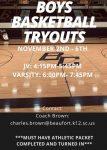 Creek Boys' Basketball Tryouts Begin Monday Nov.2nd