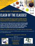 Clash of the Classes…Calling all Alumni Classes of Creek!
