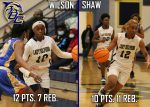 Shaw's double-double keeps playoff hopes alive