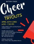 BC Cheer Tryouts Begin April 20th!