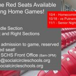 Single Game Red Seats Available