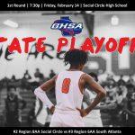 Boys Basketball Host 1st Round GHSA Playoffs