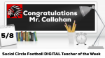 SCFB- Coach Callahan Teacher of the Week
