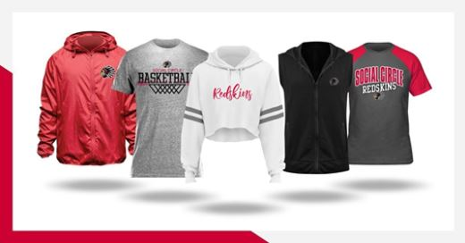 Basketball season is HERE! Grab your GEAR and Support the Redskins!