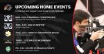 SC Upcoming Home Events
