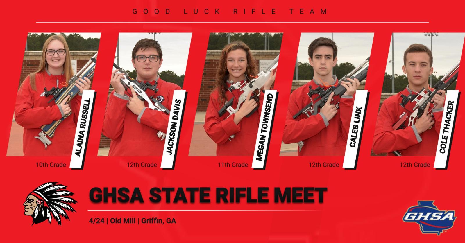 Good Luck Rifle Team @ GHSA State Meet