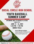 Social Circle Youth Baseball Camp
