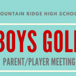 Boys Golf Parent Meeting