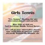 Girls Tennis – Parent Meeting