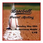 Baseball Parent Meeting  – TONIGHT