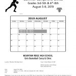 Girls Basketball Camp for Future Junior Sentinels