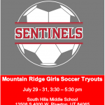 Girls Soccer Tryouts – WE WANT YOU!!