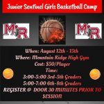Future LADY Sentinels Basketball Camp & Clinic….NEXT WEEK