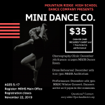 Mini-Dance Company – Don't forget to register….