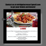 Boys Lacrosse Fundraising Dinner and Auction Feb 1st
