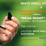 NCAA Night – September 22nd