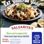 Support WK Girls Soccer…Eat at Salsaritas!