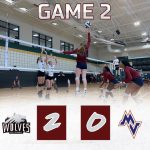 Girls Varsity Volleyball beats Midland Valley 2 – 0 in match 2 of Aiken Tournament.