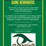 River Bluff Football Game Reminders