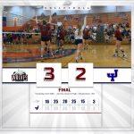 Girls Varsity Volleyball beats James Island Charter 3 – 2