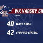 WK Varsity Girls Basketball suffers tough loss!
