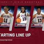 Varsity Girls Basketball Starting Line-up @ Greenwood
