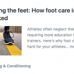 Foot care is often overlooked!