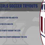 WK Girls Soccer Tryouts